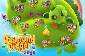 solution diamond digger saga niveau 206