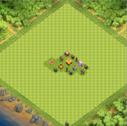 village clash of clans HDV 1 COC