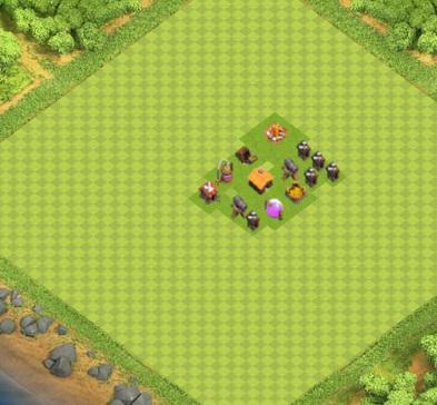 COC village HDV 1 mode farming