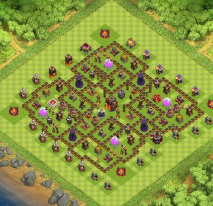 village clash of clans hdv 10 coc solution jeux mobile. Black Bedroom Furniture Sets. Home Design Ideas