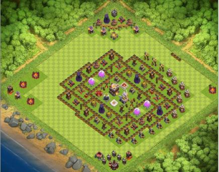 COC village HDV 10 mode défensif