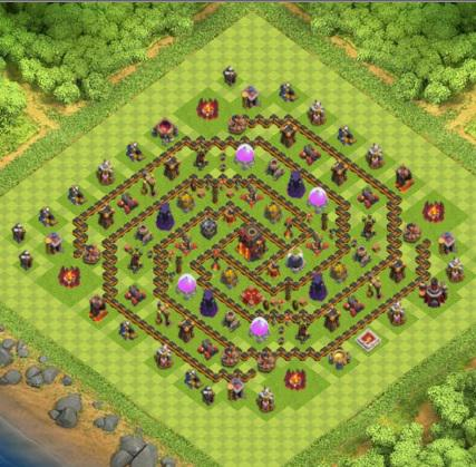 village clash of clans hdv 10 coc r ponse android iphone. Black Bedroom Furniture Sets. Home Design Ideas