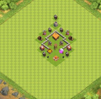 village clash of clans HDV 2 COC