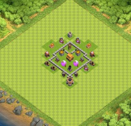village clash of clans hdv 3 coc solution jeux mobile. Black Bedroom Furniture Sets. Home Design Ideas