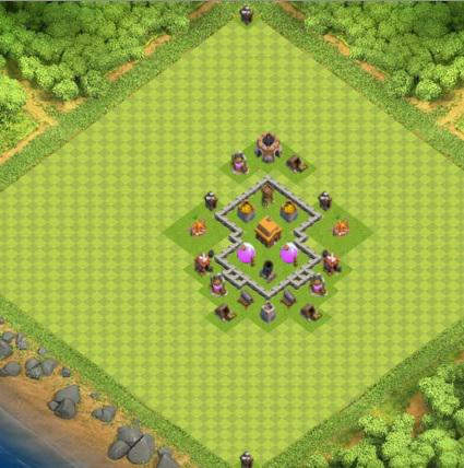 COC village HDV 3 mode farming