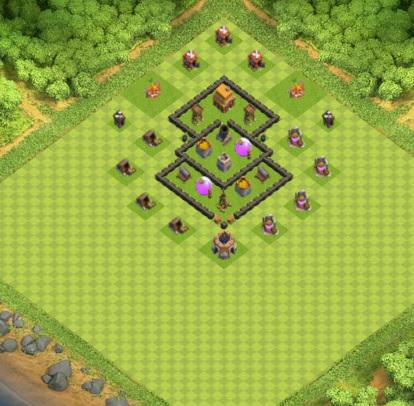 village clash of clans hdv 4 coc solution jeux mobile. Black Bedroom Furniture Sets. Home Design Ideas