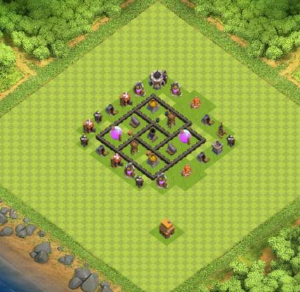 COC village HDV 4 mode farming