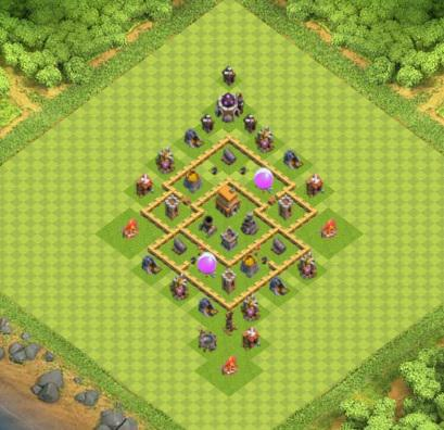 village clash of clans hdv 5 coc r ponse android iphone. Black Bedroom Furniture Sets. Home Design Ideas