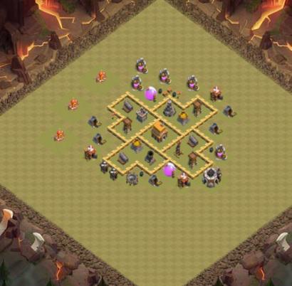 COC village HDV 5 mode défensif