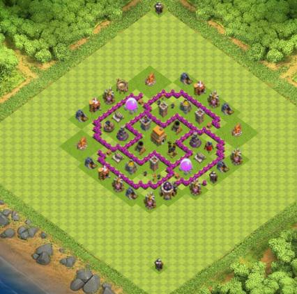 village clash of clans hdv 6 coc solution jeux mobile. Black Bedroom Furniture Sets. Home Design Ideas