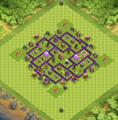 village clash of clans hdv 7 coc solution jeux mobile. Black Bedroom Furniture Sets. Home Design Ideas