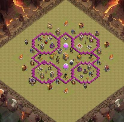 COC village HDV 7 mode défensif