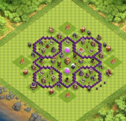 village clash of clans hdv 7 coc r ponse android iphone. Black Bedroom Furniture Sets. Home Design Ideas