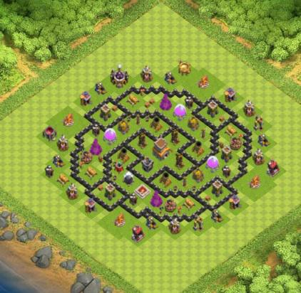 village clash of clans hdv 8 coc solution jeux mobile. Black Bedroom Furniture Sets. Home Design Ideas