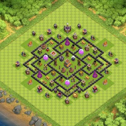 village clash of clans hdv 8 coc r ponse android iphone. Black Bedroom Furniture Sets. Home Design Ideas