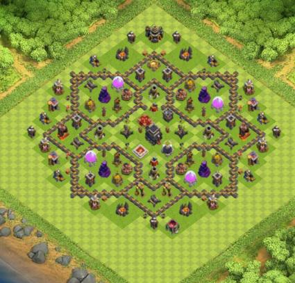 village clash of clans hdv 9 coc r ponse android iphone. Black Bedroom Furniture Sets. Home Design Ideas