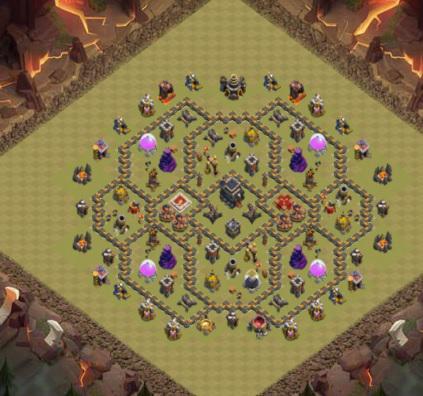 COC village HDV 9 mode défensif