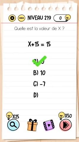 solution Niveau 219