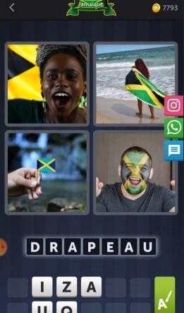4 Images 1 Mot Énigme Journalière Jamaïque 21 MAI 2020