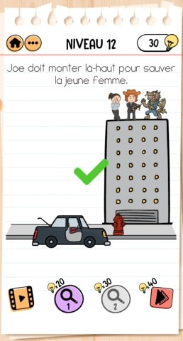 solution Brain Test 2 Joe le chasseur de monstres NIVEAU 12