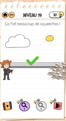 solution Brain Test 2 Joe le chasseur de monstres NIVEAU 19