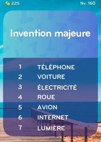 solution top 7 niveau 160