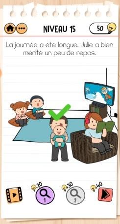 solution Brain Test 2 La Famille McMéninge NIVEAU 15