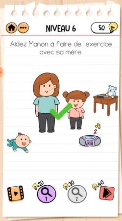 solution Brain Test 2 La Famille McMéninge NIVEAU 6