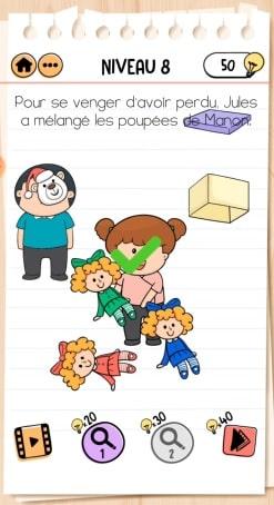 solution Brain Test 2 La Famille McMéninge NIVEAU 8