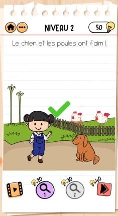 solution Brain Test 2 NIVEAU 2 Ferme d'Émilie