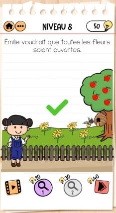 solution Brain Test 2 NIVEAU 8 Ferme d'Émilie