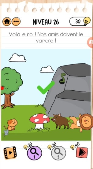 solution Brain Test 2 Les aventures de Rouky NIVEAU 26