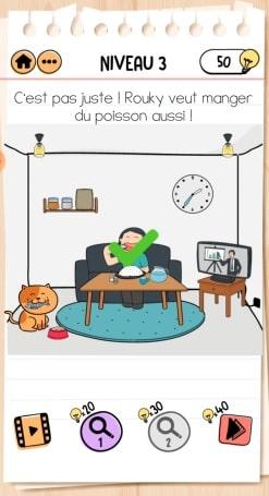 solution Brain Test 2 Les aventures de Rouky NIVEAU 3