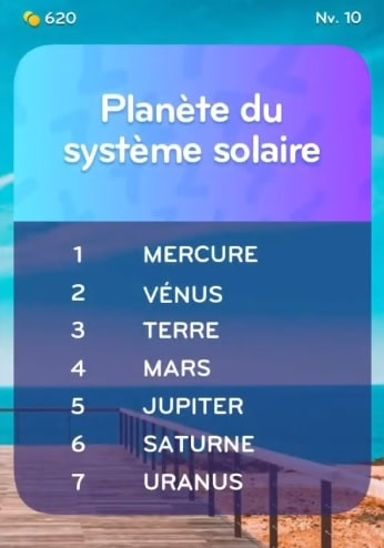 solution top 7 niveau 10