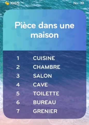 solution top 7 niveau 19