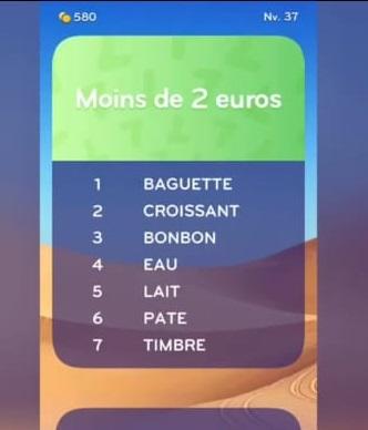 solution top 7 niveau 37 - moins de 2 euros ? - android ...