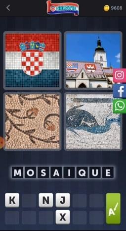 4 Images 1 Mot Énigme Journalière bonus Croatie12 juillet 2020