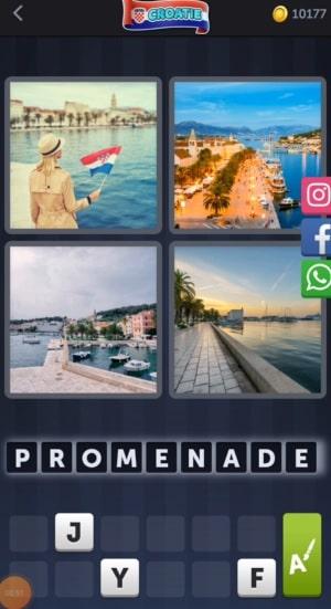 4 Images 1 Mot Énigme Journalière bonus Croatie24 juillet 2020