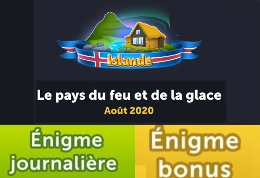 solution 4 images 1 mot islande enigme journaliere aout 2020