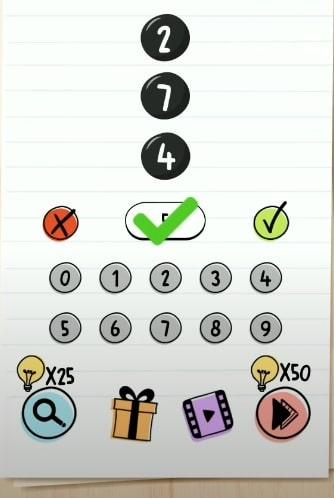 solution Brain Test niveau 272