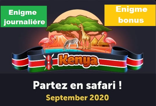 4 images 1 mot kenya enigme journaliere Septembre 2020