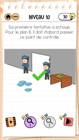 solution Brain Test 2 comment s'évader NIVEAU 10